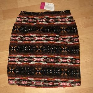 NWT Aztec Print Skirt